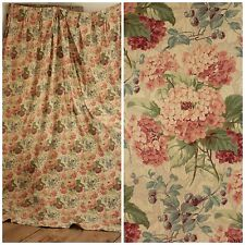 Vintage French hydrangea curtain English Country Cottage Style drape floral