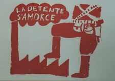 """""""LA DETENTE S'AMORCE / MAI 68"""" Affichette entoilée TCHOU Editeur"""