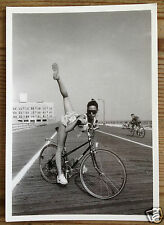 Wish It Was A Tandem - Leggy Young Athletic  Girl On A Bicycle - postcard