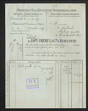 """BEAUCOURT (90) Service ARTICLES de MENAGE """"Ets. JAPY Freres"""" en 1927"""