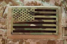 "Large Infrared Multicam IR US Flag Patch 5"" x 3"" Special Forces Green Beret"