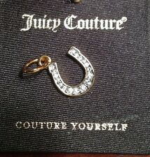 Juicy Couture Mini Pave Horse Shoe lucky Charm with box DIY