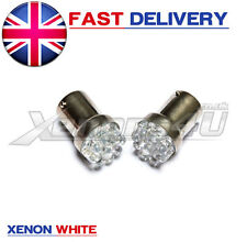 2x Ba15s P21W 9 LED Xenon White VW Golf Mk4 4 REAR BACK Parking Light Bulbs