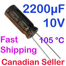 2pcs 2200uF 10V 10x25mm Nichicon HZ Ultra Low Impedance For Motherboard PC Audio