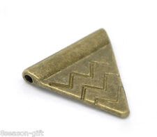 60 Bronze Tone Triangle Spacer Beads 14x14mm