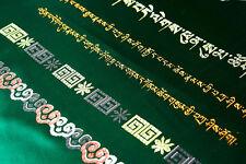 "100"" TIBETAN AUSPICIOS SIGNS & SUTRA SILK SCARF OFFERING KATAK KHATA KATAS HADA"
