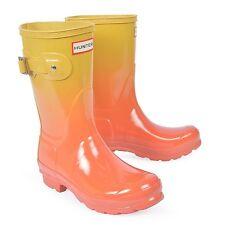 Hunter Short rainboots size 6 (Color Haze- Sunset/Hay)