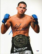 Anthony Pettis Signed UFC 11x14 Photo PSA/DNA COA Picture w/ WEC Belt Autograph