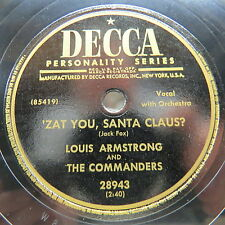 Louis Armstrong - DECCA 28943 - 'Zat You, Santa Claus?