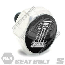 Polished Hex Billet Aluminum Seat To Fender Bolt for Harley USA # NUMBER 1 SKULL