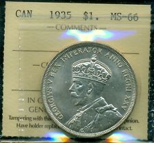 1935 Canada, King George V, Silver Dollar, ICCS MS-66 Gem