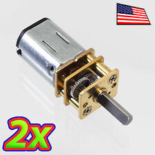 [2x] DC 12V 600RPM Mini Metal Gear Motor - N20 - 3 x 10mm Motor Output Shaft