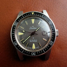 Vintage Tradition Divers Watch w/Mint Dial,Quickset Date,Warm Patina,All SS Case