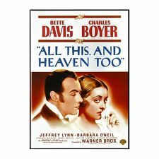 All this and heaven too, Bette Davis, Charles Boyer  DVD UK