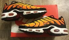 NEW NIKE AIR MAX TXT PLUS TOUR Yellow Orange Black Sneakers Mens Size 10.5