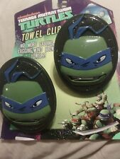 TEENAGE MUTANT NINGA TURTLES TOWEL CLIPS GREAT FOR BEACH, POOL, BOAT, CAMPING