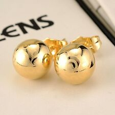 Amazing 18k Yellow Gold Filled Charming Stud Earrings GF Ball Womens Jewelry hot