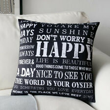 You are my sunshine Quote Throw Pillow Case Decorative Cushion Cover Sham 18""