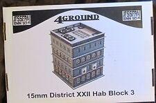 4Ground 15S-JUZ-103 15mm Sci-Fi Jesserai District XXII Hab Block #3 Terrain NIB