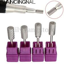 """4X 3/32"""" Carbide Smooth Top Bit Electric Nail File Drill Manicure Pedicure Tool"""