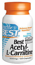 Doctor's Best Acetyl-L-Carnitine HCL featuring Sigma tau Carnitine - 588 mg