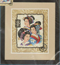 Three Geishas Counted Cross Stitch Kit Sunset 13702 USA Made 10 x 12 Oriental