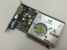 NEW nVIDIA FX5500 256MB 128bit AGP DDR VGA/DVI /S-Video Video Card