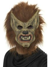 Werewolf Mask Brown Smiffys 20301 - Wolf Mask Halloween Mens Fancy Dress