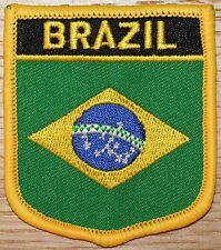 BRAZIL Brazilian Shield Country Flag Embroidered PATCH Badge P1