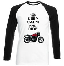 HONDA CB 1100 2010 KEEP CALM AND RIDE - NEW COTTON TSHIRT - ALL SIZES IN STOCK