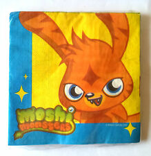 16 MOSHI MONSTERS CHILDRENS PARTY SERVIETTES NAPKINS 2-ply 33 x 33cm ANIMATION