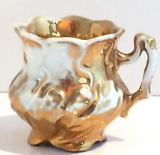 Demitasse Cup, Gold and White.
