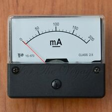 0- 200mA DC Ammeter Amp Panel Meter  Analogue Analog NEW