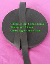"23mm (7/8"") Light Army Green CANVAS DIY cotton Webbing tape Bag Belt Sew x 1Yard"