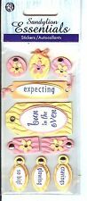 Sandylion Essentials -  Pregnancy Tag 3D Scrapbooking Stickers
