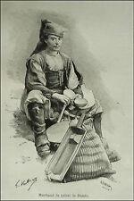 1890:SARDEGNA,USI.COSTUMI = Mercante di Talleri di Desulo = Nuoro.Passpartout..