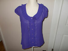 Atmosphere Purple Sleeveless Chiffon Relaxed Fit Top/Blouse. Size 10-12
