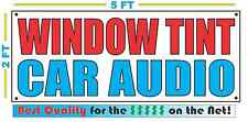 WINDOW TINT CAR AUDIO Banner Sign NEW Larger Size Best Quality for the $$$