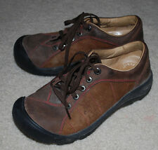 Keen Shoes Ladies 7.5 / 38 Brown Leather Suede Lace Up Comfort Shoe Sneakers