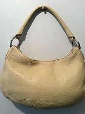 ANN TAYLOR real leather ladies small yellow green underarm shoulder handbag
