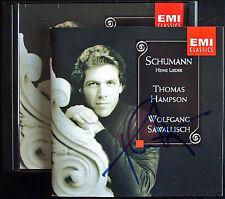 Thomas HAMPSON Signed SCHUMANN Heine Lieder SAWALLISCH  CD Liederkreis arme Pete