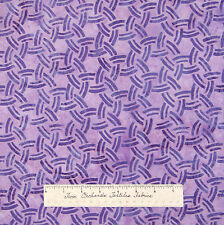 Batik Fabric - Interlocking Circles Tonal Orchid Purple - Hoffman Cotton /Yd