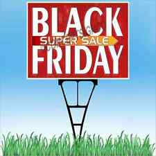 "18""X24""  BLACK FRIDAY SUPER SALE Outdoor Yard Sign & Stake Sidewalk Lawn Sales"