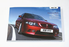 MG ZS Owner's Handbook (RCL 0593, *2nd Edition*, 12/2004) *NEW/UNUSED*
