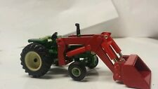 1/64 CUSTOM AGCO WHITE OLIVER 1555 TRACTOR W/ RED OLIVER LOADER ERTL FARM TOY