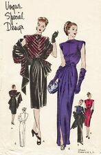 Vintage 40's VOGUE SPECIAL DESIGN S-4658 DRAPED EVENING DRESS Sewing Pattern B30