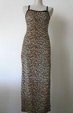 SOFTWEAR Sz S Beige Brown Leopard Print Sleeveless Women's Long Dress