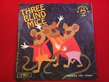 Vintage Three Blind Mice/Timmie's Toy Town Robin Hood Records 45's