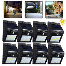 8x16 LED Solar Power Motion Sensor Outdoor Waterproof Garden Security Lamp Light