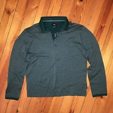 Men's HUGO BOSS Regular Fit Mercerised Cotton Polo Top Shirt Jumper Size L Short